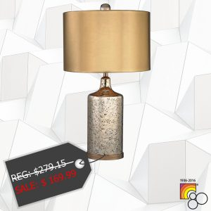 Gold Mercury Lamp With Metallic Shade