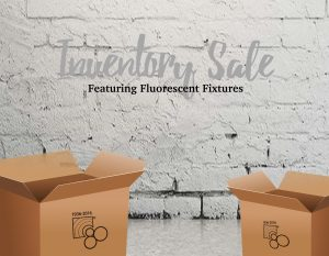 inventory sale featuring fluorescent fixtures