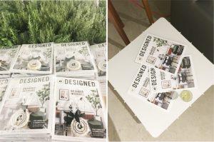 adesigned magazine layout
