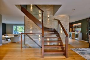 Staircase Lighting Using Wall Sconces