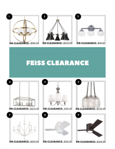 feiss clearance